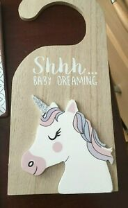 """BRAND NEW - """"HEAVEN SENDS""""  1 Wooden Plaque """" Shhh ... Baby Dreaming"""""""