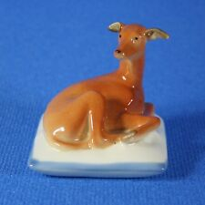 "Greyhound ""Mimmi"" on pillow Figurine, Lomonosov Porcelain, Russia IFZ"