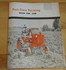 Ih Mccormick Part Time Farming With Farmall Cub Tractor Dealer Brochure Booklet