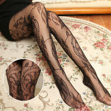 Fashion Floral Pattern Jacquard Girls Fishnet Pantyhose Womens Tights Stockings