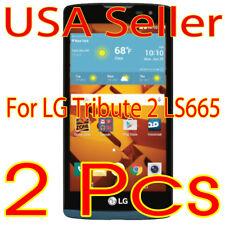2x New  LG Tribute 2 Ls665 HD Clear Screen Protector Guard Shield Film Saver