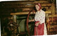 Vintage Postcard - Olf Fashion Spinning Wheel Frontier Town New York NY #3794
