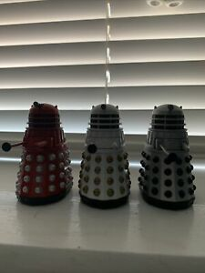 Doctor Who Classic Dalek Collector's Set Figures Red, Imperial And Supreme
