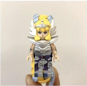1PC *NEW*-  Cygnus Hyoga - Saint Seiya  Block Minifigure Hand rope Bracelet