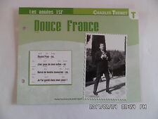 CARTE FICHE PLAISIR DE CHANTER CHARLES TRENET DOUCE FRANCE