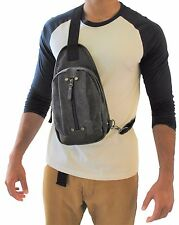 Men's Canvas Purse Bi-cycle Sling Chest Bag Cross Body Travel Backpack 8173 JTC