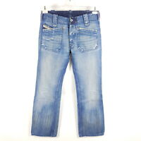 Diesel Jeans Moorix Herren W29 L34 (wie L32) Blau Straight Distressed Vintage