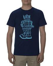 Robot vintage toy robot shirt, mens navy blue premium tee tshirt