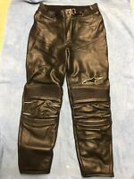 Used Alpinestars Motorcycle Leather Trousers size (UK 12)