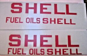 Replacement water slide decal set for Buddy L Shell Fuel Oils truck