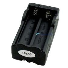 US Plug 2 Slots Travel Charger Adapter For 18650 Li-ion Rechargeable Battery DH