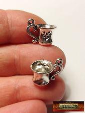 M00795a MOREZMORE 2 Miniature Tea Cups Mugs Doll Dollhouse Mini Charm Prop NDY