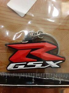 """Suzuki Motorcycle Keychain Key Chain red white black GSXR 2"""""""