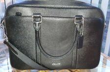 Coach Mens Business Briefcase / Shoulder Bag Black