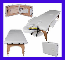 IVORY WHITE CHARBURY PORTABLE MASSAGE TABLE COUCH BEAUTY THERAPY BED REIKI