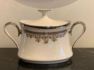 Vintage Lenox Lace Point Lidded Sugar Bowl