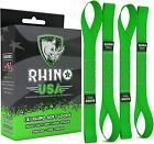 Rhino USA Soft Loop Motorcycle Tie-Down Straps (4PK) - 10,427lb Max Break Streng