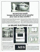 Publicité Advertising 067  1964  AEG   cuisinière éléctrique DELUXE oeuf cuit