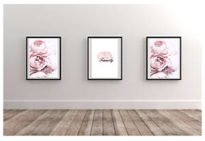 Set Of 3 Beautiful Home Wall Decor Poster Prints Available In A4 Or A5
