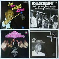 4x jazz LP joblot. Joe Williams, Joe Pass, Milt Jackson, Lionel Hampton. Swing
