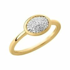 LINKS OF LONDON Diamond Essentials Gold Vermeil Oval Pave Ring N NEW RRP215