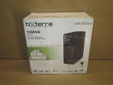 bXterra 1000VA UPS BM1000AVRLCD Intelligent LCD UPS Battery Backup, 10 Outlets,