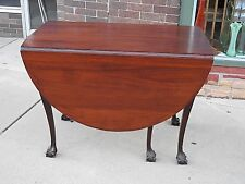 Chippendale Antique American colonial ball & claw 6 foot Double drop leaf Table