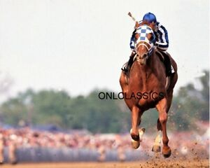 SECRETARIAT HORSE RACING BELMONT STAKES RACE WIN 8X10 PHOTO Jockey Ron Turcotte