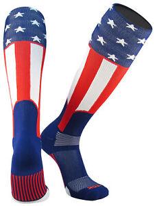 TCK Elite USA Uncle Sam Red White Blue Knee High Baseball Stirrup Socks