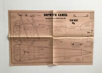 "AeroModeller UK Dec 1971 SOPWITH CAMEL 28"" Span Airplane Scale Model Plan"