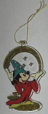 """Mickey Mouse """"Sorcerer's Apprentice"""" Flat Ornament 3.5"""" FREE Shipping"""