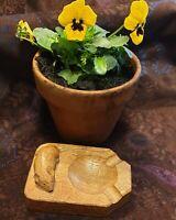 Robert Thompson Mouseman Solid Hand Carved Oak Ashtray Kilburn Yorkshire