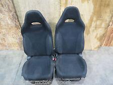 02-05 Subaru Impreza WRX OEM Black Front Seats, GDA GDB, JDM EJ205 Seats & Rails