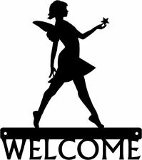Welcome Sign Fairy - Metal Art Silhouette - Faerie with a star
