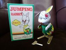 Old Style Wind up key tinplate Jumping Rabbit Mad March Hare Toy NEW BNIB Easter