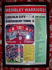 Lincoln City 1 Shrewsbury Town 0 - 2018 EFL Trophy final - framed print
