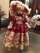 Brinns 1989 Porcelain Doll 17 inch Glass Eyes Blonde Hand Painted Limited