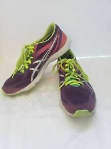 Asics Gel-Hyper Speed 6 Women's Tennis Shoe Size 10.5 Purple/Pink/Yellow/Green