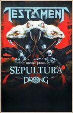 TESTAMENT | SEPULTURA | PRONG 2017 Ltd Ed RARE Tour Poster +FREE Metal Poster!