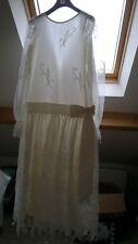 Vintage 1920s style ivory wedding dress