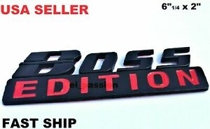 BOSS EDITION Black Fit All Models Truck Logo Front EMBLEM Bumper Birthday Idea