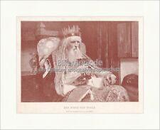 König von Thule Goethe Gedicht Faust Abend Ballade Werk Original Druck GL 669