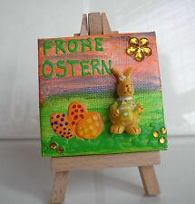 """Geschenk zu Ostern Osterdeko Minibild Collage Deko Hase """"Frohe Ostern"""""""