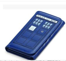 hot blue Doctor Who Tardis Wallet Police Box Logo Printed Card Money Coin Purse