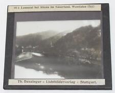 Lennetal Altena Sauerland, antikes Lichtbild Glasplatte ca. 1920 #E892