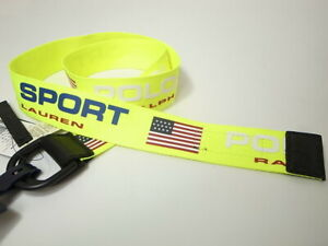 POLO SPORT RALPH LAUREN D-RING BELT NEON YELLOW size M