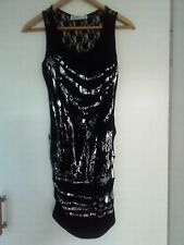 Ladies INTERNATIONALE Long Black and Silver Top/Tunic - Size 10