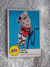 Carolina Hurricanes Jeremy Welsh Signed 12/13 O-Pee-Chee Retro Rookie Card Auto