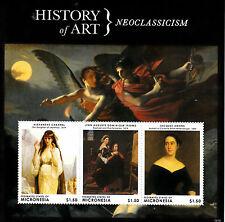 Micronesia 2013 Mnh Historia del Arte Neoclasicismo Ii 3v m/s Cabanel Jacques Amans