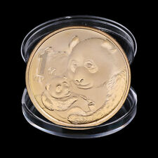 2019 China Panda Commemorative Coin Gold Plated Souvenir Coin New Year Gifts AN